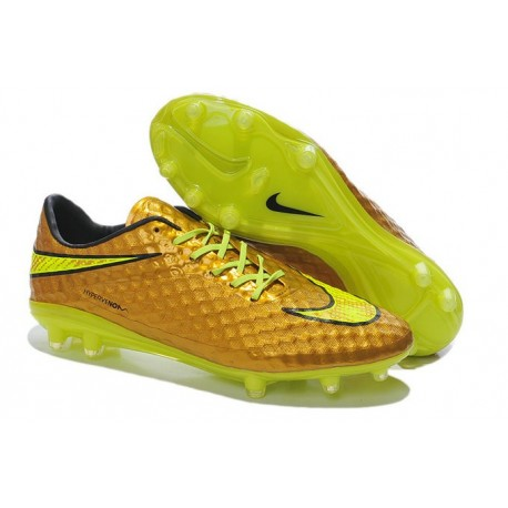 Scarpette da Calcetto Neymar Nike HyperVenom Phantom FG ACC Oro Volt