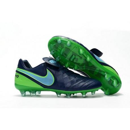 Nike Scarpette da Calcio 2016 Tiempo Legend 6 Tech Craft FG Verde Nero