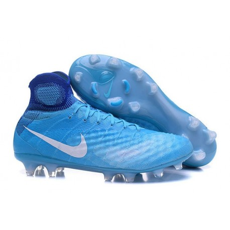 Nuovo Nike Scarpa da Calcio Magista Obra 2 FG Blu Bianco