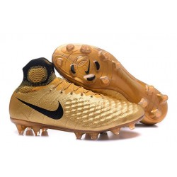 Nuovo Nike Scarpa da Calcio Magista Obra 2 FG Oro Nero