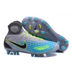 Nike Magista Obra II FG ACC Scarpe da Calcio Uomo Grigio Blu