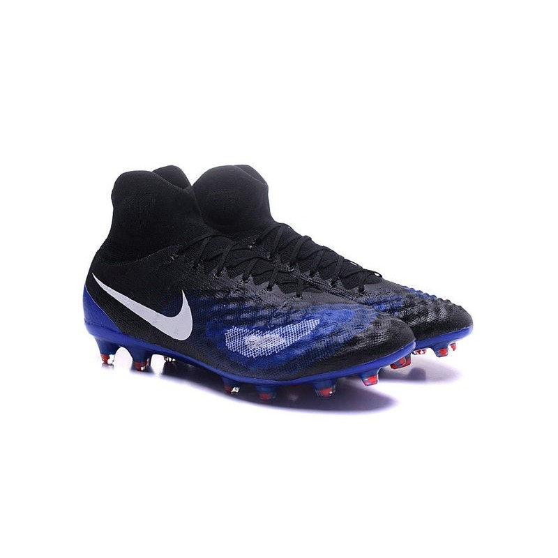 Nike Magista Obra Obra Obra II FG ACC Scarpe da Calcio Uomo Nero Blu 375ed8