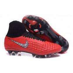 Nike Magista Obra II FG ACC Scarpe da Calcio Uomo Rosso Nero