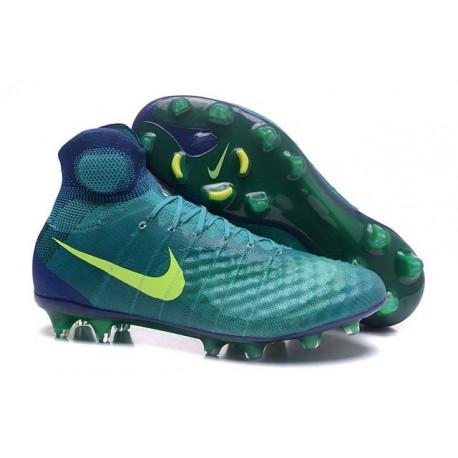 Nike Magista Obra II FG ACC Scarpe da Calcio Uomo Verde Volt