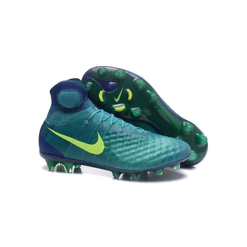free shipping 6e372 a9b8b Nike Magista Obra II FG ACC Scarpe da Calcio Uomo Verde Volt