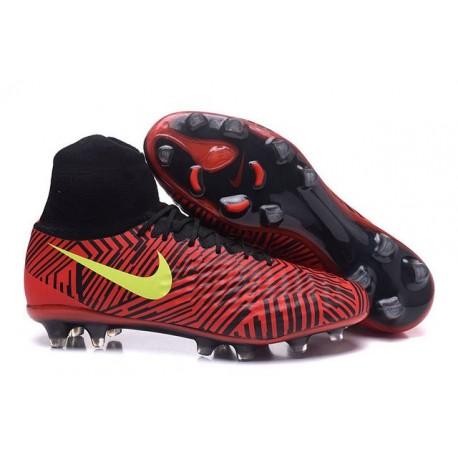 brand new 8b34c 7a590 Scarpa Calcio Nuovo Nike Magista Obra 2 FG Rosso Nero Giallo