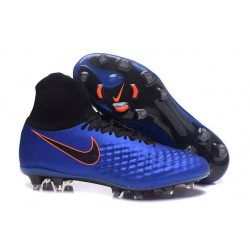 Scarpa Calcio Nuovo Nike Magista Obra 2 FG Blu Nero