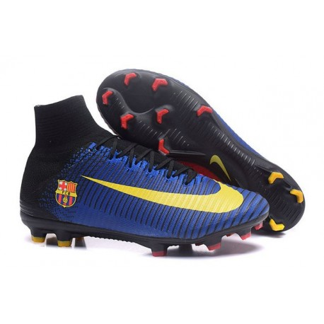 Nike Mercurial Superfly V FG Nuovo Scarpa da Calcio Barcelona Blu