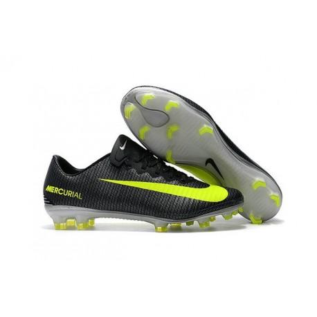 Nike Scarpa da Calcio Mercurial Vapor 11 CR7 FG ACC Nero Giallo