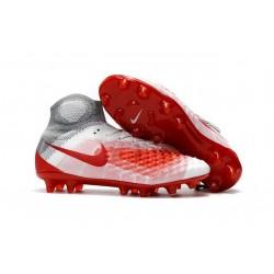 Scarpa Calcio Nuovo Nike Magista Obra 2 FG Bianco Rosso