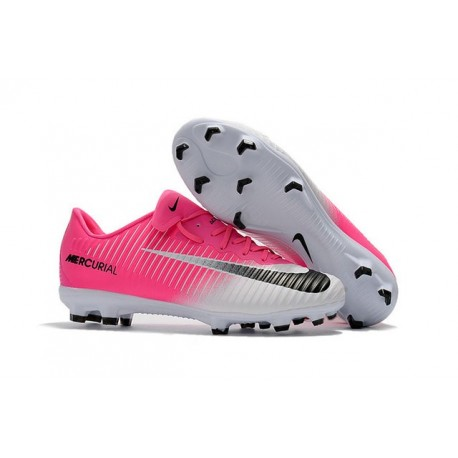 Nike Mercurial Vapor XI FG Scarpe Calcio Uomo Rosa Bianco Nero