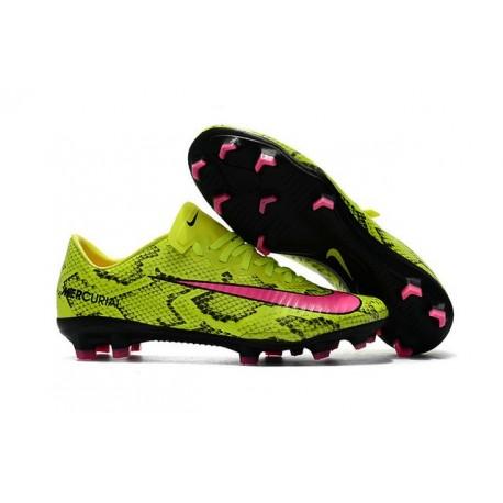 Nike Mercurial Vapor XI FG Scarpe Calcio Uomo Giallo Rosa