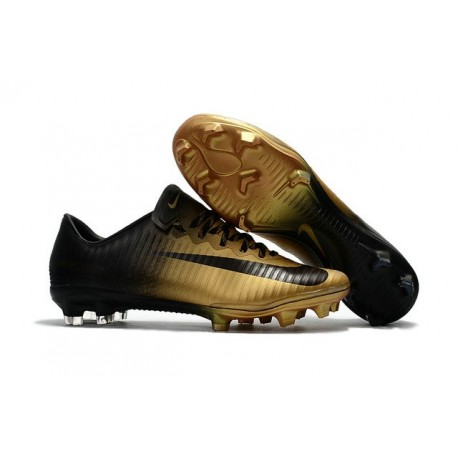 Nike Mercurial Vapor XI FG Scarpe Calcio Uomo Nero Oro