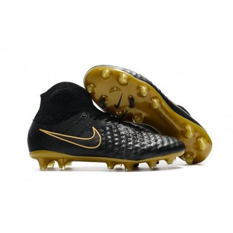 Nike Magista Obra II FG Uomo 2017 Scarpe da Calcio Nero Oro