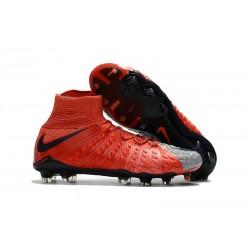 Scarpe Calcio Nike Hypervenom Phantom 3 Dynamic Fit FG - Rosso Grigio