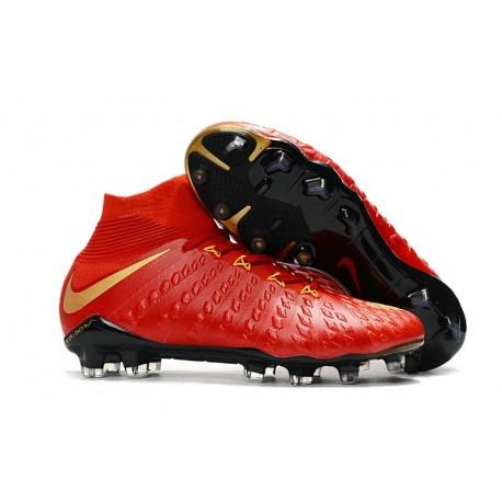 Scarpe Calcio Nike Hypervenom Phantom 3 Dynamic Fit FG - Rosso Oro