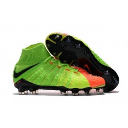 Scarpe Calcio Nike Hypervenom Phantom 3 Dynamic Fit FG - Verde Arancio Nero