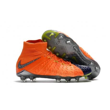 Scarpe Calcio Nike Hypervenom Phantom 3 Dynamic Fit FG - Arancio Nero
