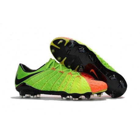 Scarpe Nike HyperVenom Phantom 3 FG ACC Verde Arancio Nero