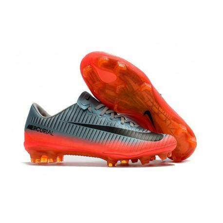 Nike Mercurial Vapor XI FG Scarpe Calcio Uomo Gris Orange Noir