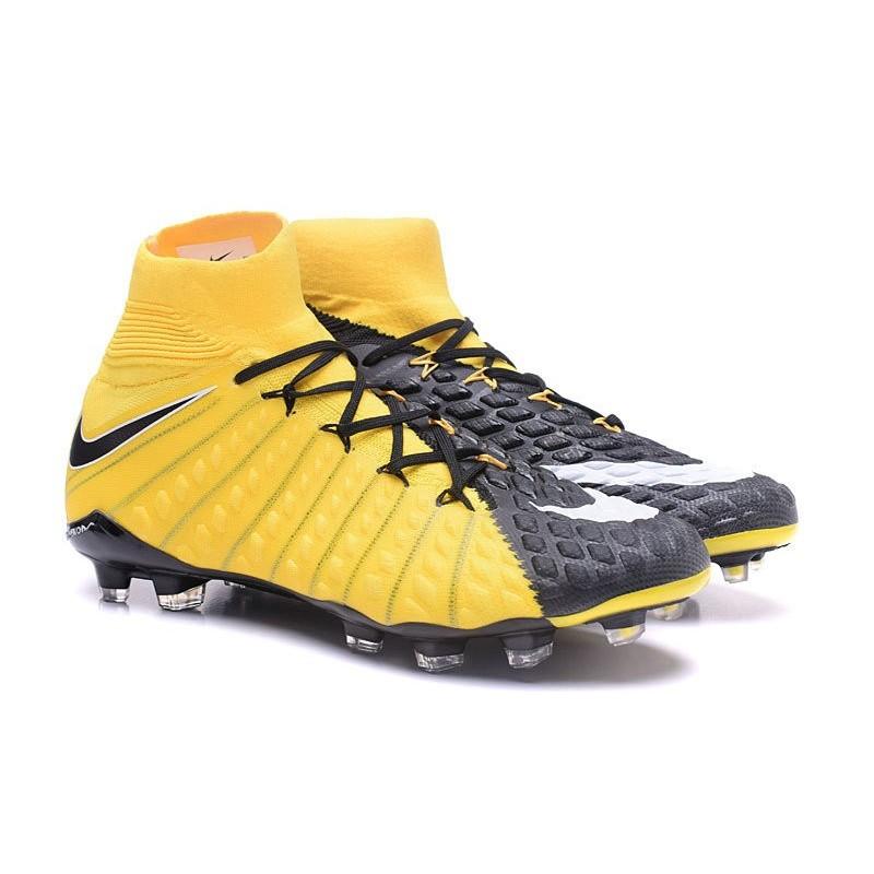 Scarpe Dynamic Calcio Nike Hypervenom Phantom 3 Dynamic Scarpe Fit FG Giallo Nero 17107a
