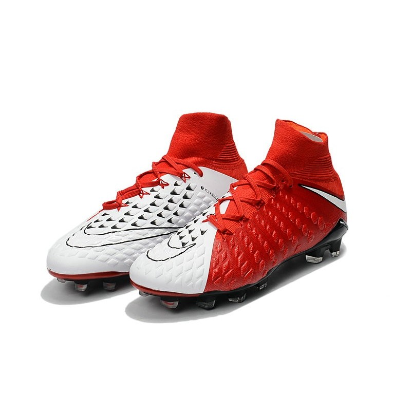 factory authentic aac36 dc1b3 Scarpe Calcio Nike Hypervenom Phantom 3 Dynamic Fit FG Rosso Bianco