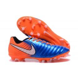 Nike Scarpa Calcio Uomo Tiempo Legend VII FG - Blu Arancio