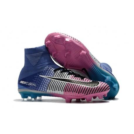 Scarpe da Calcio Nike Mercurial Superfly V FG ACC - Rosa Blu Nero