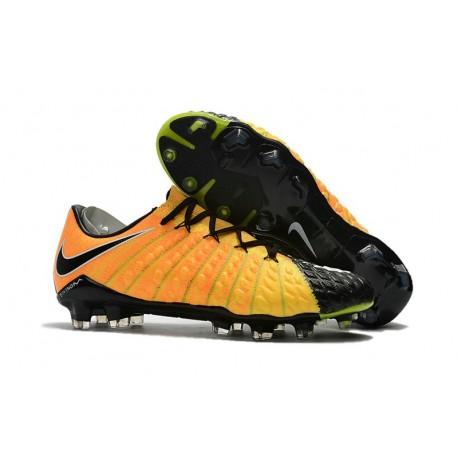 Scarpe Nike HyperVenom Phantom 3 FG ACC Jaune Noir