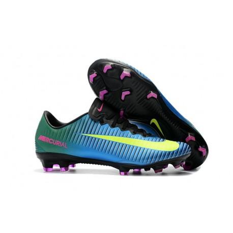 Nike Scarpa da Calcio Mercurial Vapor XI FG ACC - Blu Giallo