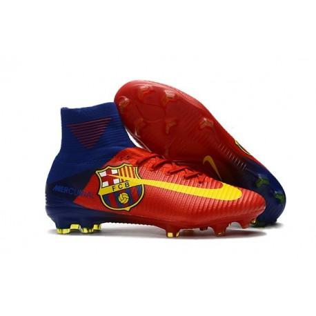 Scarpe da Calcio Nike Mercurial Superfly V FG Barcelona Rosso