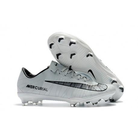 Nike Cristiano Ronaldo Scarpa da Calcio Mercurial Vapor XI FG ACC - Bianco Nero