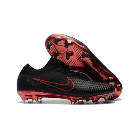 Scarpe Nike Mercurial Vapor Flyknit Ultra FG - Nero Rosso