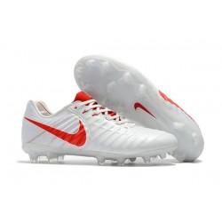 Nike Scarpa Calcio Uomo Tiempo Legend VII FG - Bianco Rosso