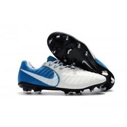 Nike Tiempo Legend 7 FG Scarpa da Calcio Uomo - Bianco Blu