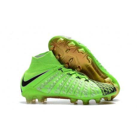 Nike Scarpa Calcio Hypervenom Phantom 3 DF FG Verde Nero