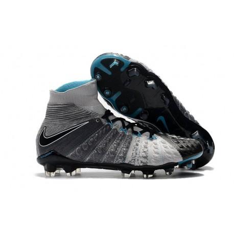 Nike Scarpa Calcio Hypervenom Phantom 3 DF FG Grigio Nero