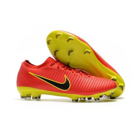 Scarpe Nike Mercurial Vapor Flyknit Ultra FG - Rosso Giallo