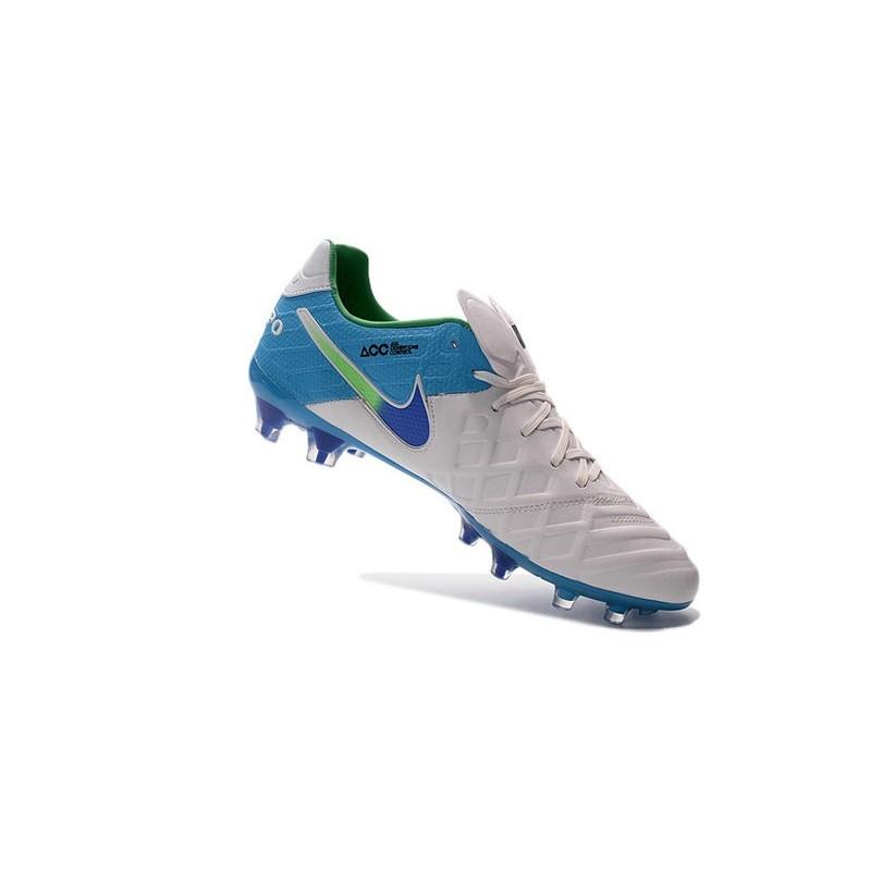 wholesale dealer 75fbf 904d4 Scarpe Nike Tiempo Legend VI FG Pelle di Canguro - Bianco Blu