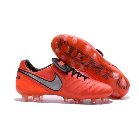 Scarpe Nike Tiempo Legend VI FG Pelle di Canguro Canguro Canguro Arancio Bianco 19d47f