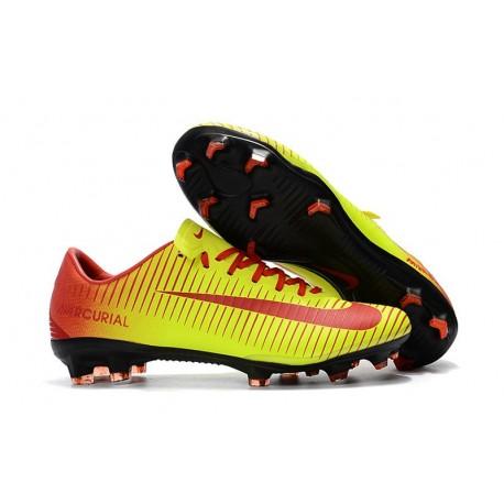 Nike Mercurial Vapor XI FG Nuova Scarpa da Calcio - Giallo Rosso