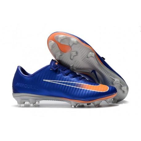 Nike Mercurial Vapor XI FG Nuova Scarpa da Calcio - Blu Arancio