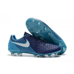 Scarpini da Calcio Nike Magista Opus 2 FG Uomo Blu Bianco