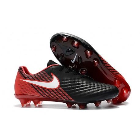 Scarpini da Calcio Nike Magista Opus 2 FG Uomo Nero Rosso