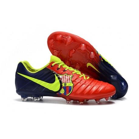 Nike Tiempo Legend 7 FG Scarpa da Calcio Barcelona Rosso