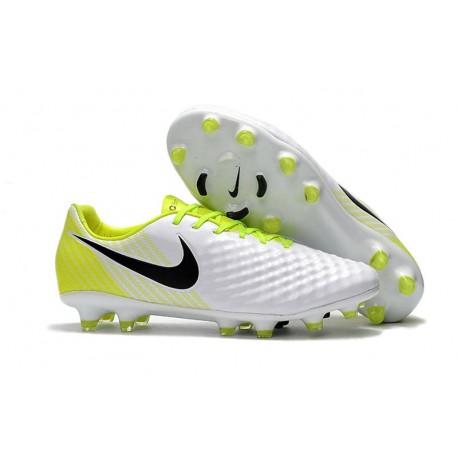 Nike Magista Opus II FG Scarpe da Calcio - Bianco Giallo