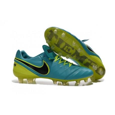 Scarpe Nike Tiempo Legend VI FG Pelle di Canguro - Blu Volt Nero