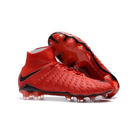 Nike Scarpa Calcio Hypervenom Phantom 3 DF FG Rosso Nero