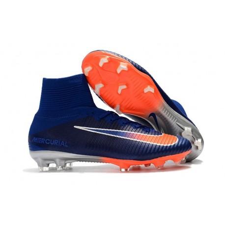 Nike Mercurial Superfly 5 FG Nuove Scarpa da Calcio - Blu Arancio