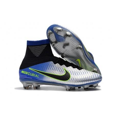 Scarpe Nuovo Neymar Nike Mercurial Superfly V FG ACC Cromo
